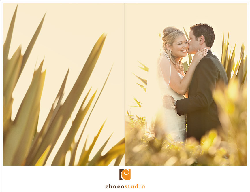 Palm Event Center bride and groom romantic portrait