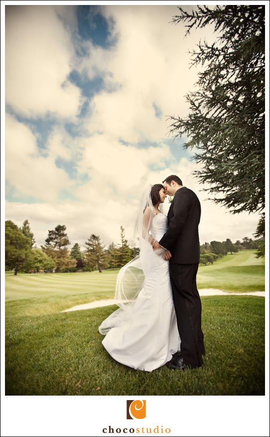 Bride and Groom Portraits at the Peninsula Golf Country Club Wedding