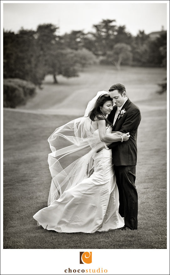 Wedding Portrait in Peninsula Golf Club