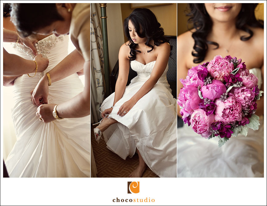 Bridal Preparations for a wedding at Guglielmo Winery