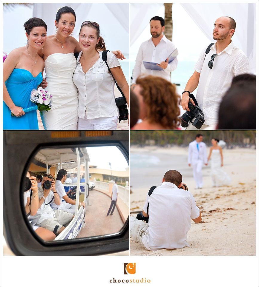 Wedding photographers at the destination wedding