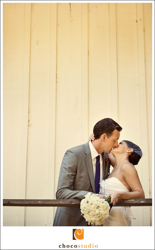 Bride and Groom at a Dawn Ranch Lodge Wedding