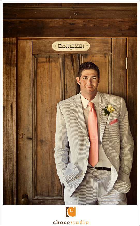 Groom at the Rustic Wedding Venue