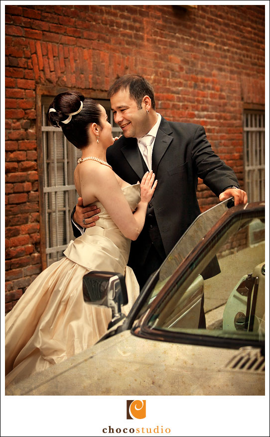 Portrait of Couple with Classic Car