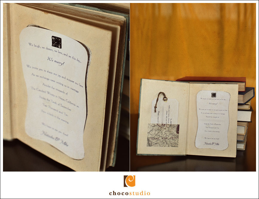 Details of a wedding invitation book