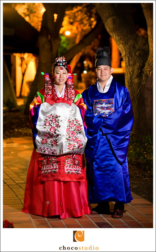 Freedom Hall and Gardens wedding Korean attire