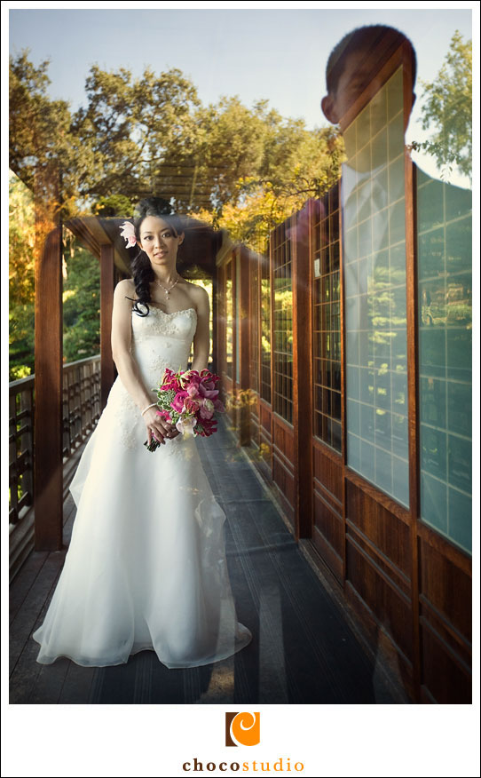 Portrait of a bride at a Hakone Gardens Wedding
