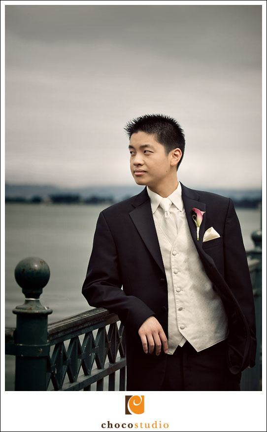 Groom at a Pier in SF