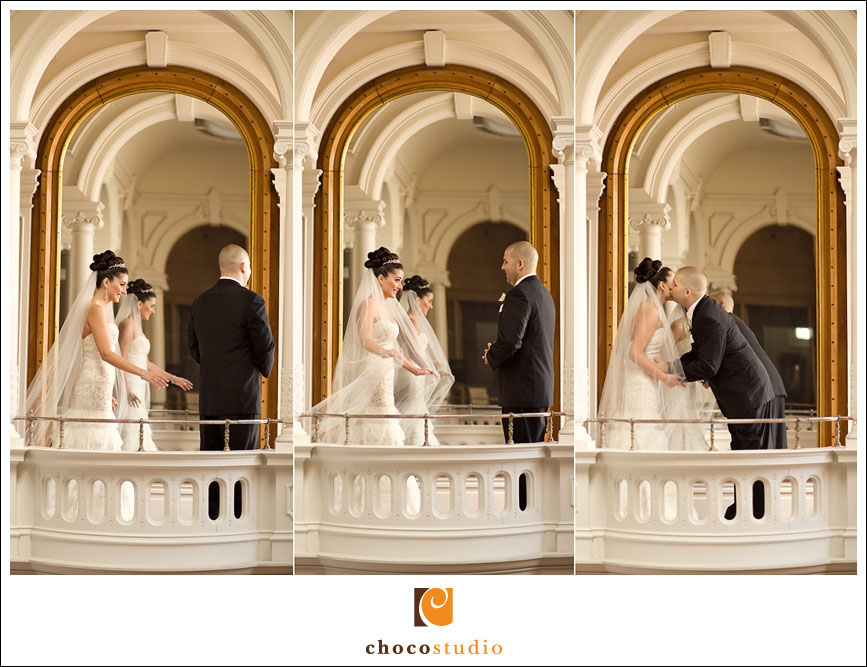 First Look at a Ralston Hall Wedding