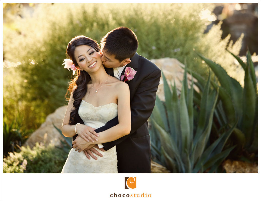 Bride and groom portrait in Silver Creek Valley Country Club