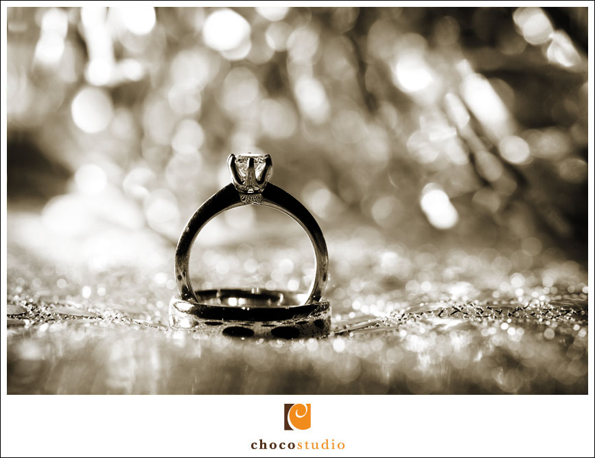 Wedding rings at Silver Creek Valley Club