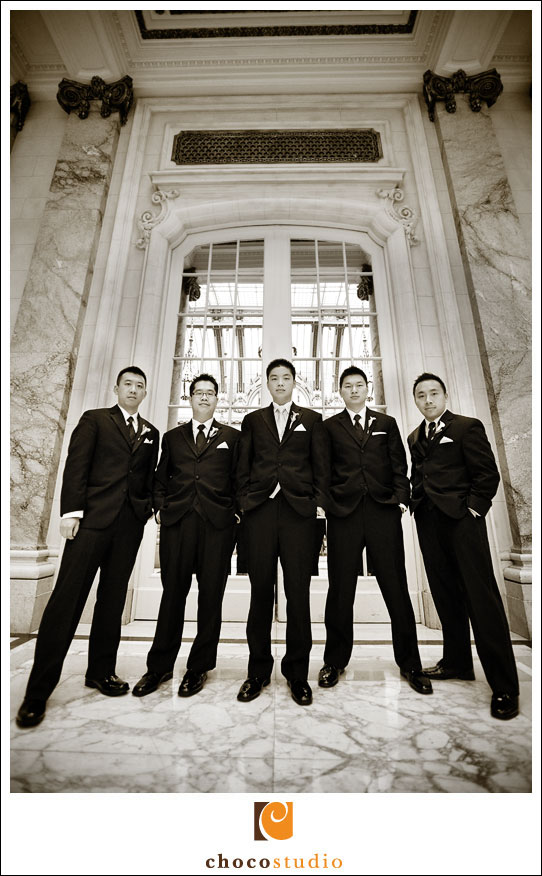 Groomsmen and Groom at Palace Hotel
