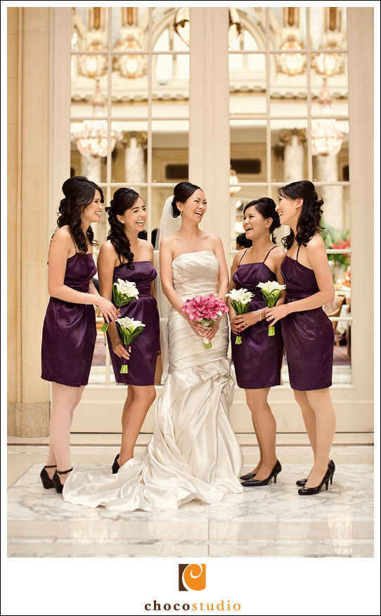 Bridesmaids at the Palace Hotel