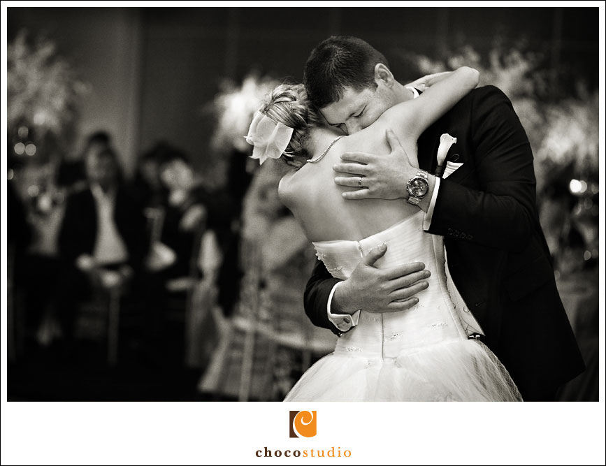 Emotional Moment during the First Dance at Hotel Nikko in San Francisco