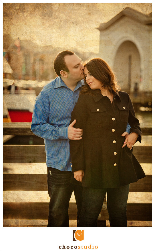 Engagement photo at San Francisco Fisherman Wharf
