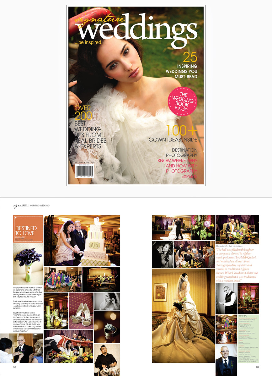 Signature Weddings Magazine Feature