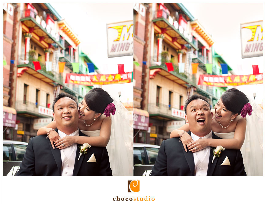 San Francisco Chinatown wedding photograph