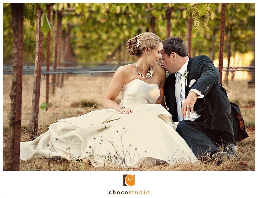 Portrait of a couple in the vines