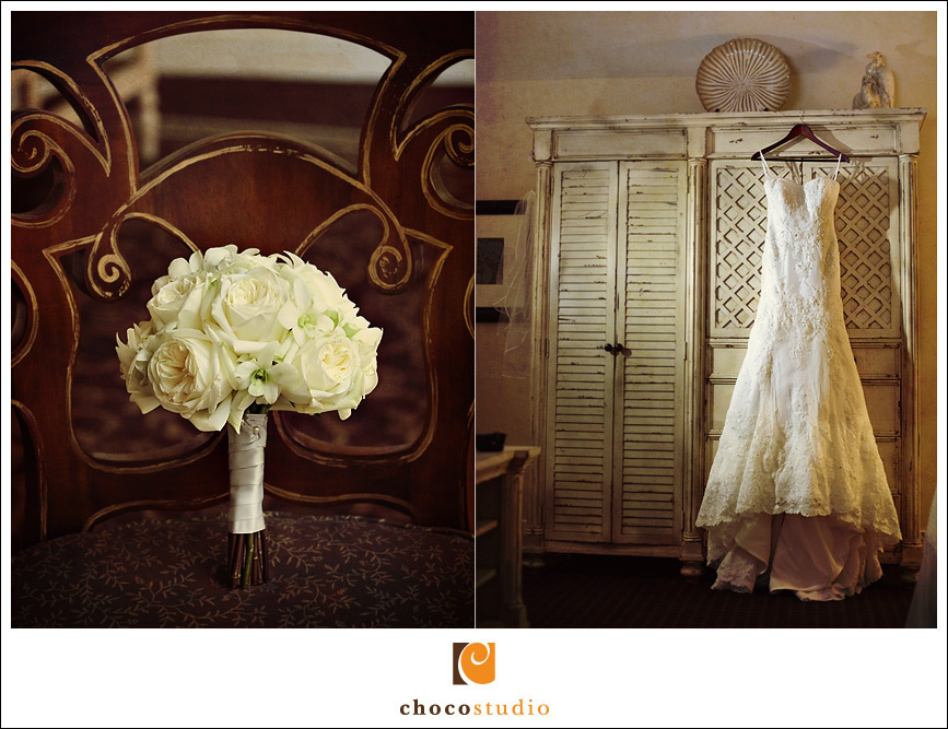 Wedding dress at Oceano hotel