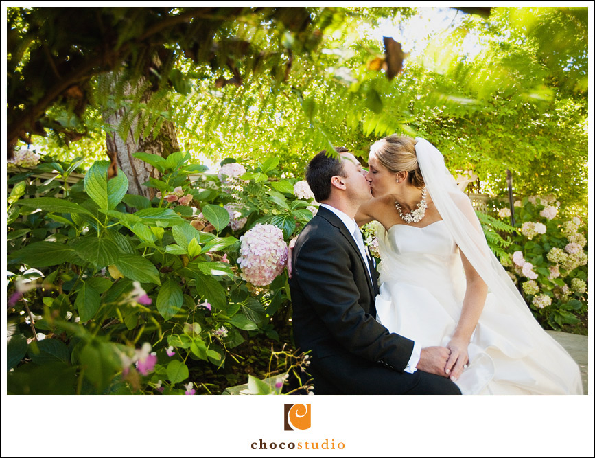 Wedding portrait at Vine Hill House