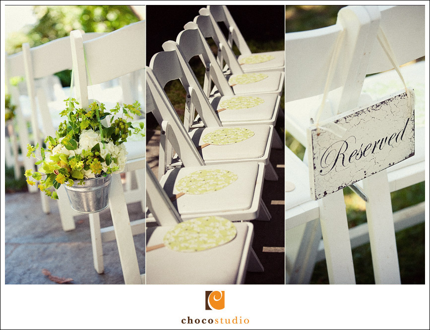 Details of wedding ceremony at Vine Hill House