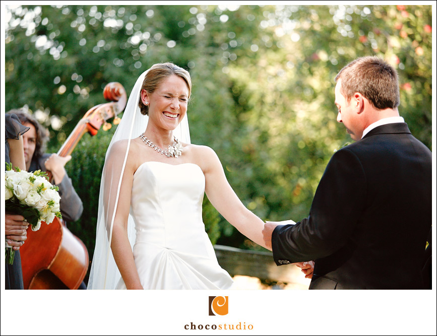 Photograph of a Vine Hill House wedding ceremony