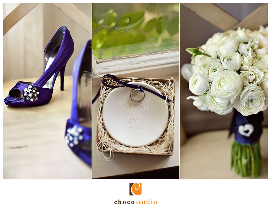 Purple wedding shoes photograph