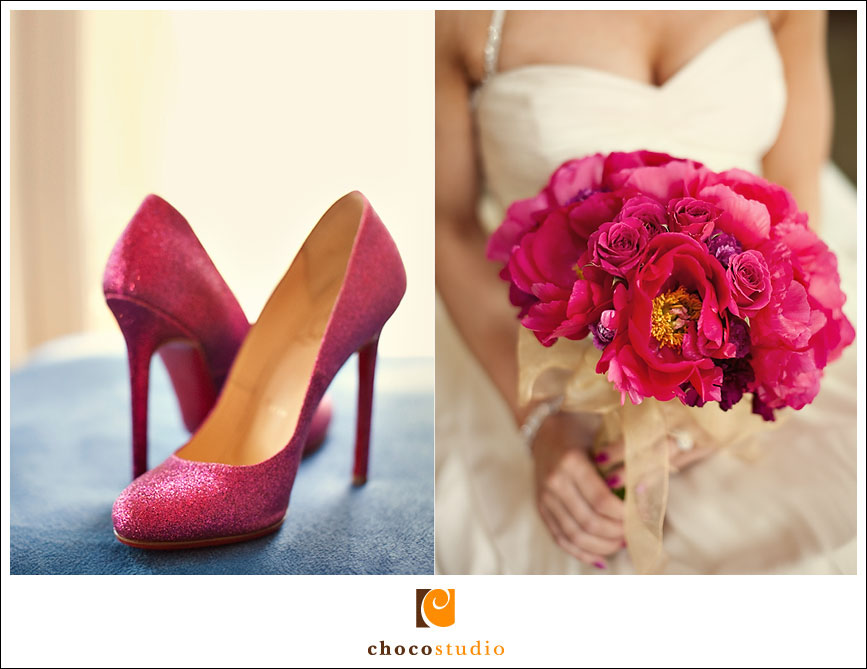 Pink wedding Christian Louboutin