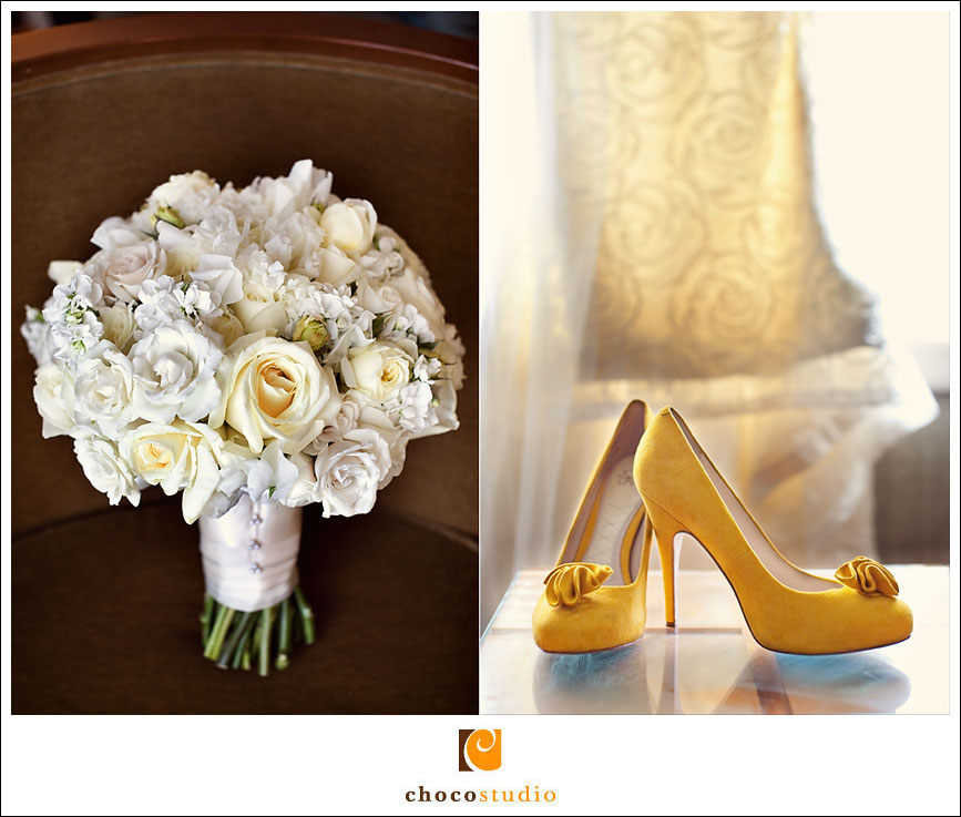Yellow wedding shoes photograph