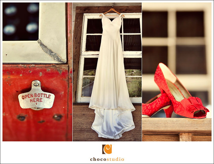 Red vintage wedding shoes picture