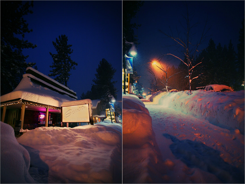 Night photography in South Lake Tahoe