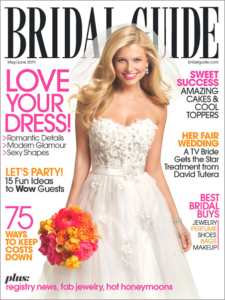 Bridal Guide magazine features Wine Country wedding