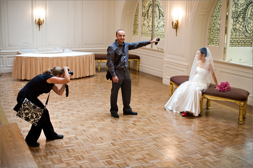 San Francisco wedding photographer in Palace Hotel