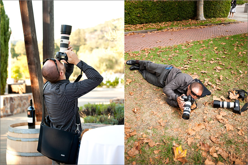 San Francisco wedding photographer behind the scenes pictures