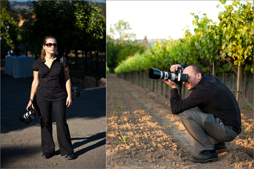 San Francisco wedding photographer at a winery wedding