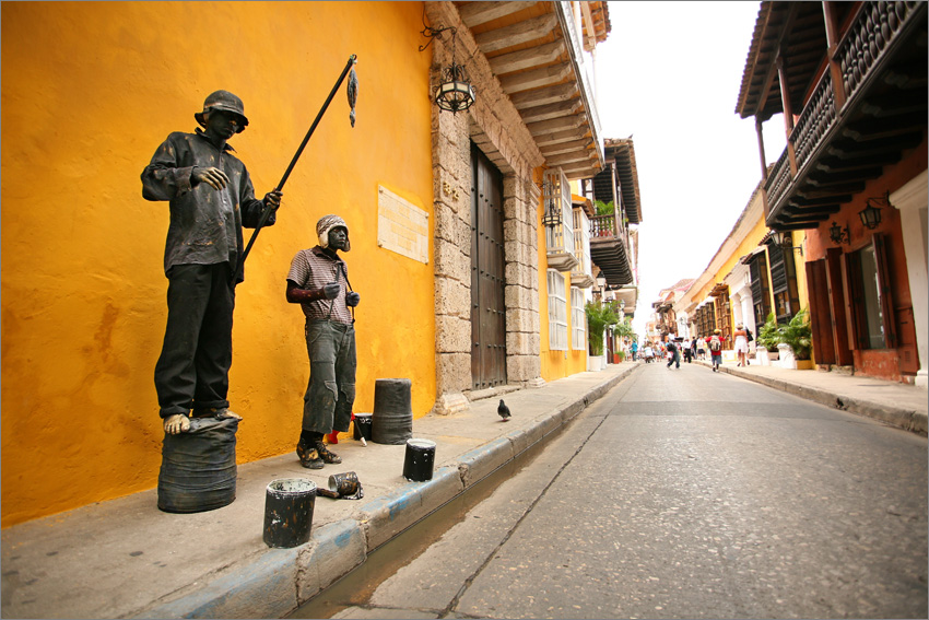 Colorful streets of Cartagena