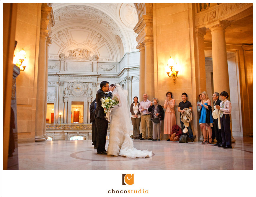 SF City Hall wedding ceremony