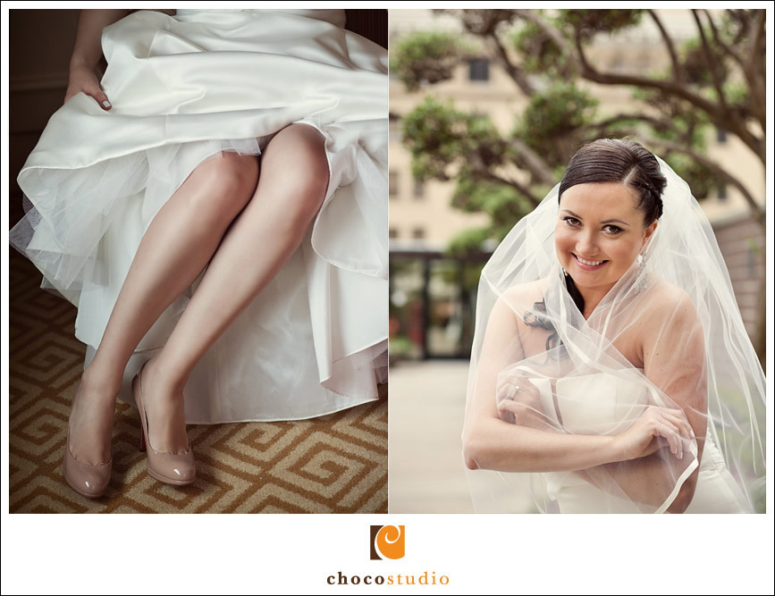 Presidio Golden Gate Club bride portrait
