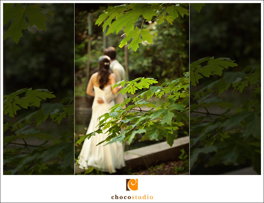 Bride and Groom in the forest of Ralston White Retreat