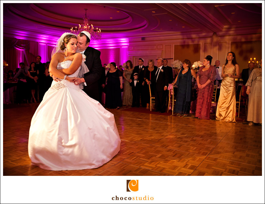 The first dance at a wedding reception in Ritz Carlton San Francisco