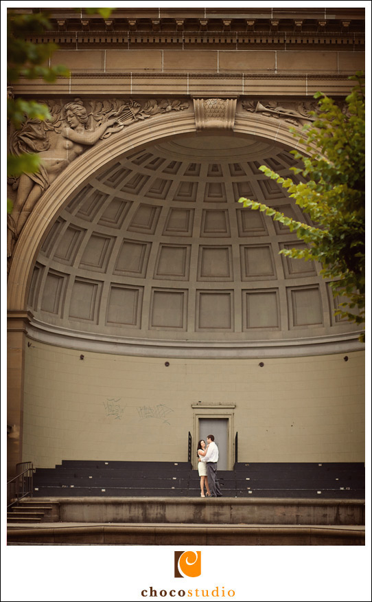 Golden Gate Park engagement amphitheater photo