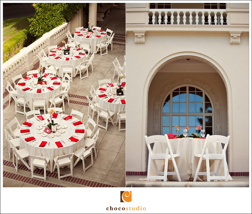 Villa Montalvo wedding reception