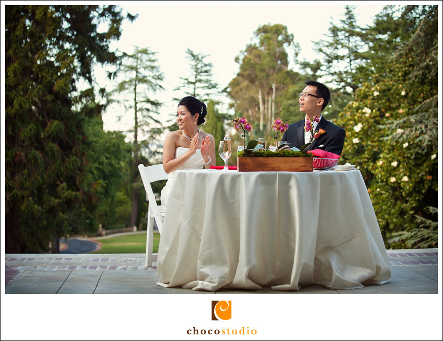 Wedding reception on the veranda of Villa Montalvo