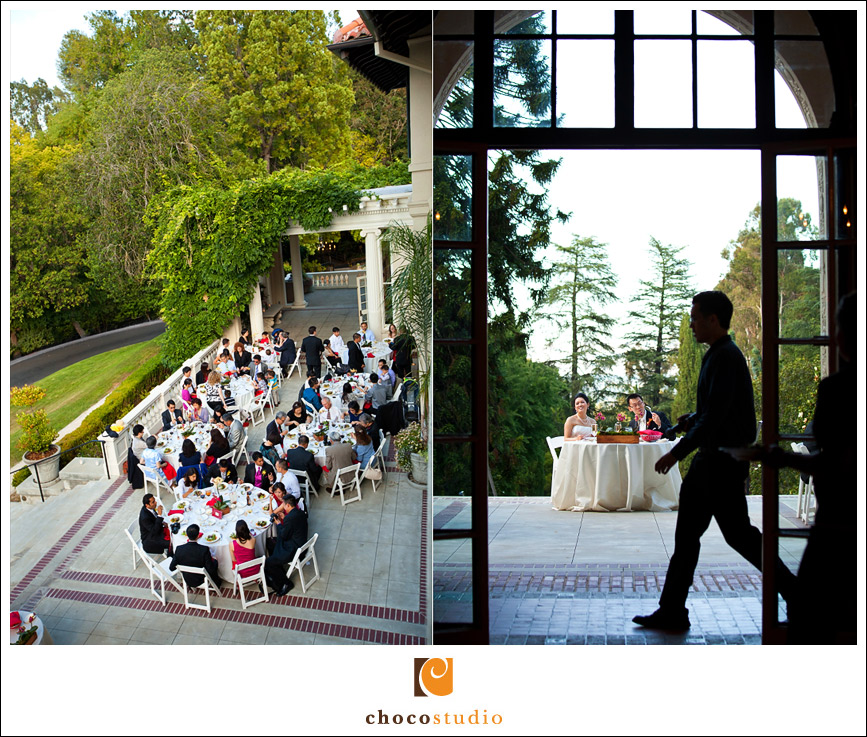 Wedding dinner at Villa Montalvo