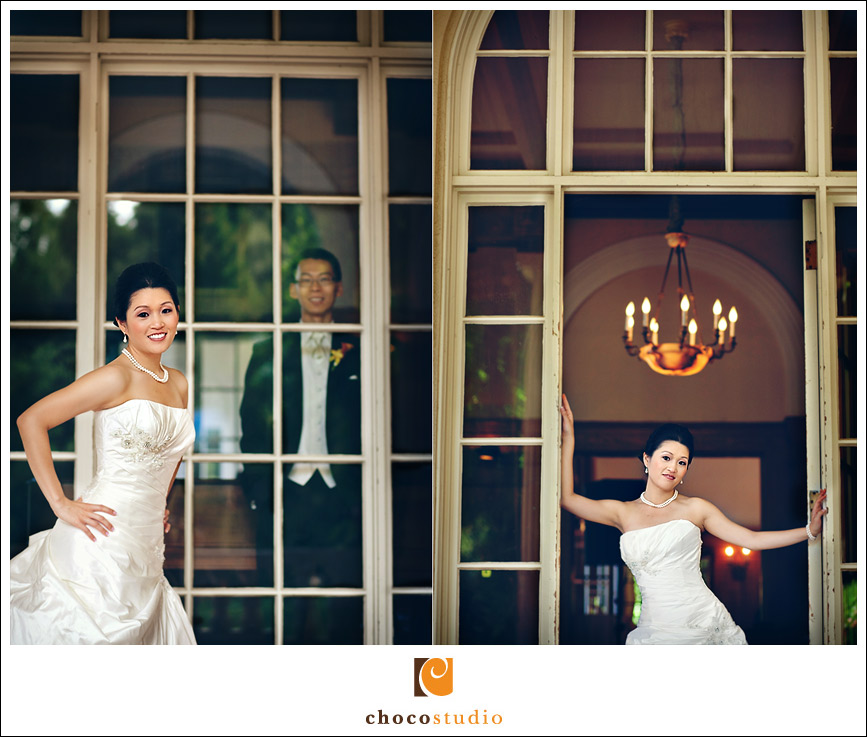 Wedding portraits at Villa Montalvo