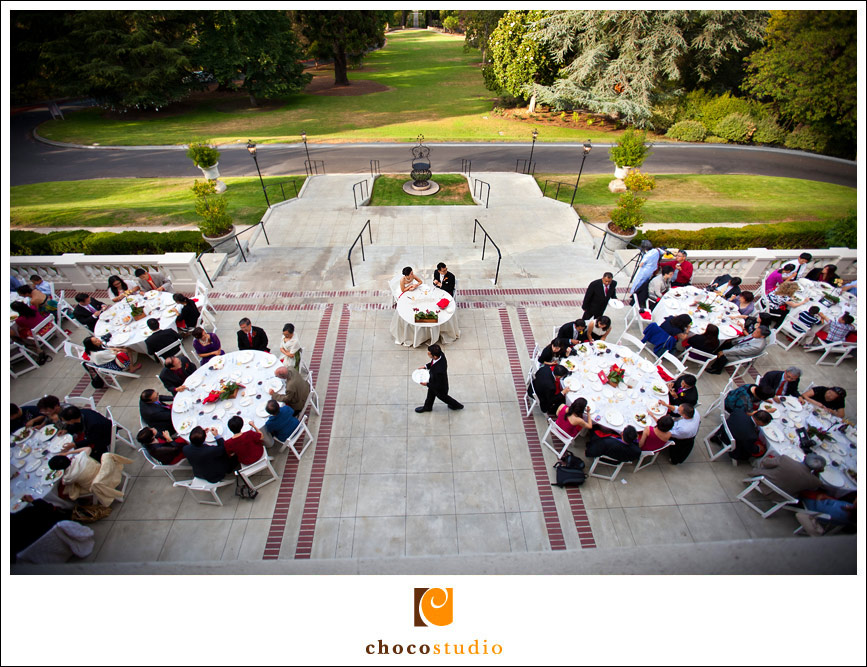 Wedding dinner on the terrace of Villa Montalvo
