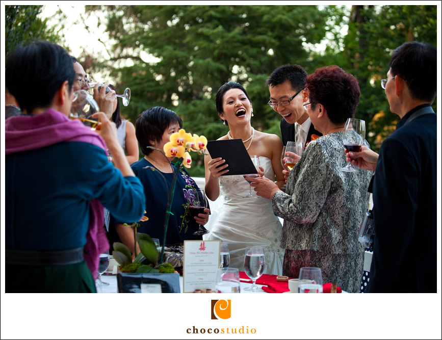 Laugh at wedding reception
