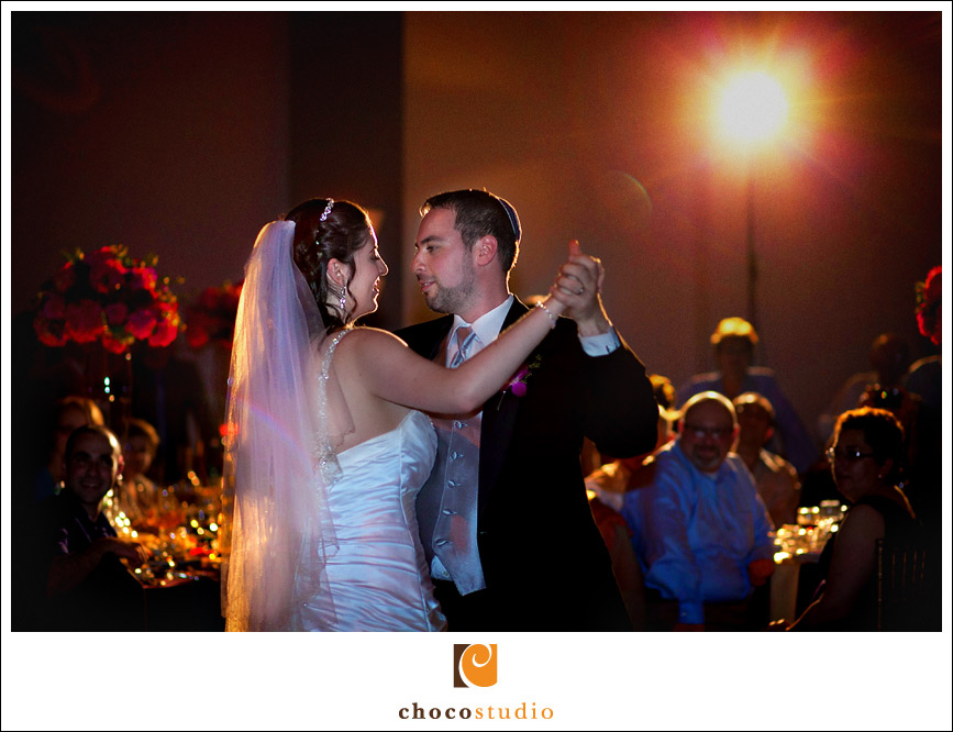 First dance at the wedding reception at Hoytt Theater