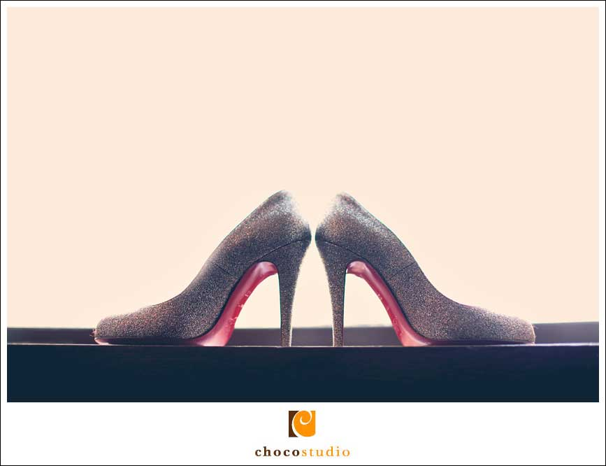 Louboutons wedding shoes