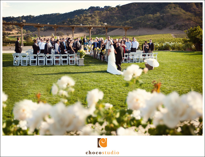 Clos La Chance wedding ceremony on Grand Lawn